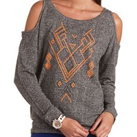 COLD SHOULDER FRENCH TERRY SWEATSHIRT