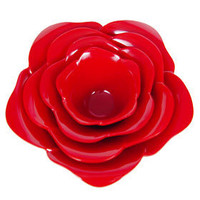 PLASTICLAND - Red Rose Stacking Bowls Serving Set - 4 pcs. $22