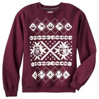 Men's Star Wars Christmas Fleece Sweatshirt - Dark Maroon