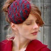 Cable Knit Pill Box Fascinator Hat