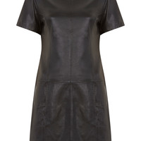Black Leather Shift - Miss Selfridge