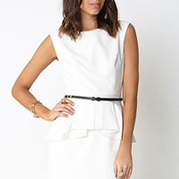 Chic Side Peplum Dress
