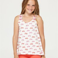 GIRLS 7-14 BLOSSOMS TANK TOP