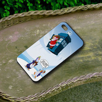 Christmas Santa Tardis - For Iphone 4/4s Iphone 5 and Samsung Galaxy S3/S4