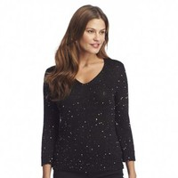 Chaps Sequin Sweater
