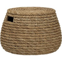 Roll Weave Storage Basket-Ottoman