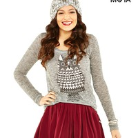 OWL HI-LO SWEATER