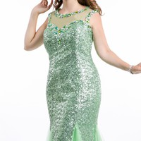 Embellished Long Gown by Party Time Plus