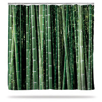 Birch and Bamboo Shower Curtains