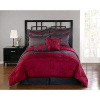 8-Piece Comforter Set - Geometric Stripes