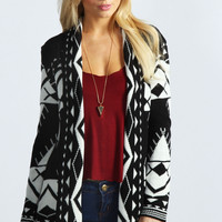 Aimee Aztec Open Knit Cardigan