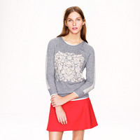 EMBOSSED FLORAL SWEATER