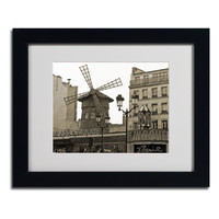 Kathy Yates 'Vintage Moulin Rouge' Framed Matted Art