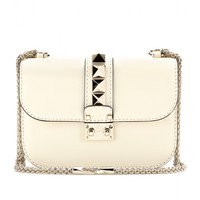 Valentino - LOCK LEATHER SHOULDER BAG