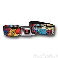 Spiderman Comic Panels Seatbelt Belt