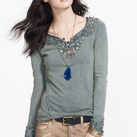 Free People 'Blue Luna' Embroidered Cutout Top | Nordstrom