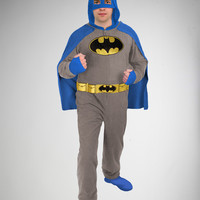 Batman Footed Hooded & Caped Adult Pajamas