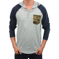Something Strong Men's Hooded Henley Shirt