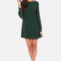 Bead Reputation Dark Green Shift Dress