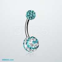 Spiral Tiffany Inspired Sparkle Ferido Belly Ring