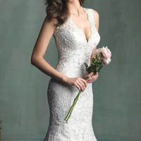 English Net Lace Gown by Allure Bridals