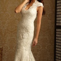 Lace Cutout gown by Allure Bridals Romance