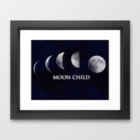 Moon Child Framed Art Print by DuckyB (Brandi)