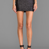 MM Couture by Miss Me Sequin Mini Skirt in Black
