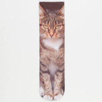 Kitty Womens Crew Socks
