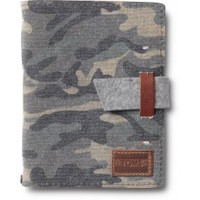 Washed Canvas Camo Travel Journal