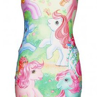 EXCLUSIVE Ladies My Little Pony Vintage Scene Body-con Dress From Mr Gugu & Miss Go : TruffleShuffle.com