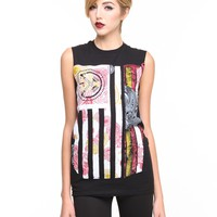 DJPremium.com - Rebel Flag Paisley Muscle Tee