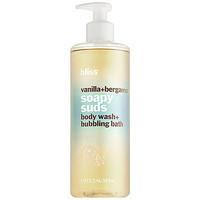 Sephora: Bliss : Vanilla+Bergamot Soapy Suds Body Wash + Bubbling Bath : body-wash-shower-gel
