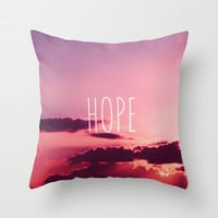 HOPE Throw Pillow by SUNLIGHT STUDIOS Monika Strigel