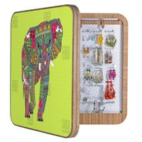 Sharon Turner Painted Elephant Chartreuse BlingBox