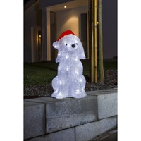 Konstsmide Festive Acrylic Dog Figure with White LED's - Konstsmide from Castlegate Lights UK