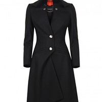 Vivienne Westwood Black Wool Unique Tailored Long Coat
