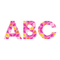 Heather Dutton Facets Bright Decorative Letters