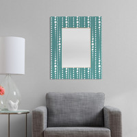 Heather Dutton Bestrewn Lagoon Rectangular Mirror