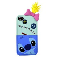 iphone Case / Stitch & Sukuranpu (ribbon earphone jack with accessories) (japan import)