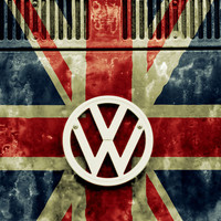 VW Retro Union Jack Art Print by Alice Gosling