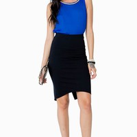 Envelope Back Pencil Skirt