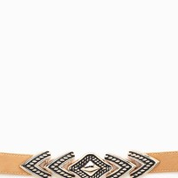 Tribal Metal Front Stretch 1.5in Belt