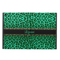 Kelly Green Leopard Personalized iPad Air Case
