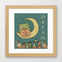 Dream Framed Art Print by Carina Povarchik