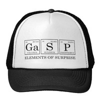 hat gasp element of surprise