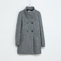 LONG FUNNEL NECK COAT