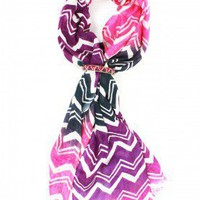 The Zig Zag Pink Combo and Crystal Set - SAACHI STYLE