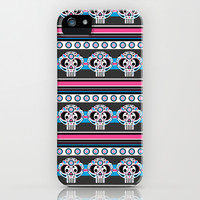 Day of the Dead Skull Stripe iPhone & iPod Case by markmurphycreative