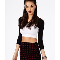 Missguided - Moryn Flocked Check Mini Skirt